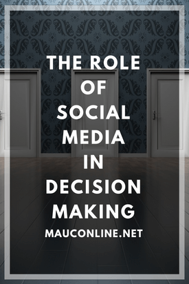The Role of Social Media in Decision Making-PIN
